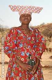 Herero Woman with Doll - Click for large image