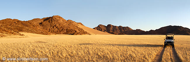 Photo: Sundowner Drive, Namib Desert