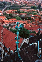 Rooftop View from St. Vitus Cathedral (1), Czech Republic