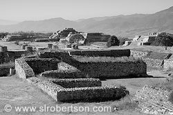 Pictures of Monte Alban in Black and White