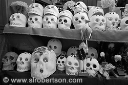 Day of the Dead Craft Shop, Oaxaca 5 BW
