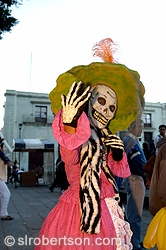 Day of the Dead Skeletal Woman