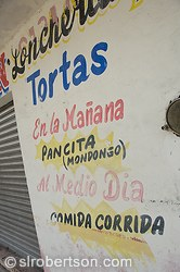 Cozumel Loncheria Tortas Sign