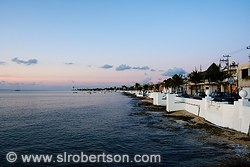 Cozumel Waterfront Sunset 1
