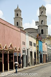 Merida Street Cathedral Towers