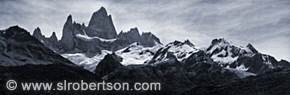 Mt. Fitz Roy Panorama BW 1