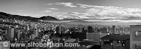 Quito Downtown Pano 1 Bw