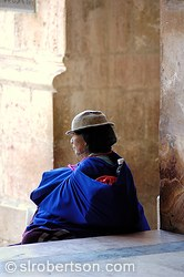 Cuenca Cathedral Woman