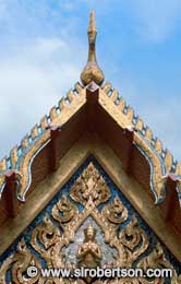 Temple Roof Detail, Grand Palace - Click for large image