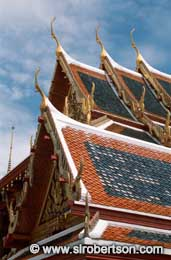 Temple Rooftops (1), Grand Palace - Click for large image