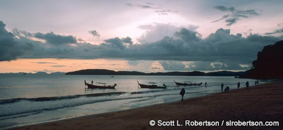 Photo: Sunset on Ao Nang Beach