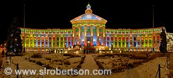 Christmas Lights, Denver City and County Building 4