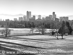Denver Skyline as seen from Denver Museum of Natural History, City Park
