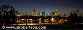 Denver Skyline at Night from City Park