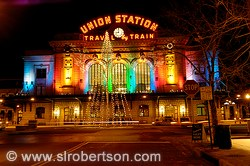 Union Station Christmas Lights, Denver